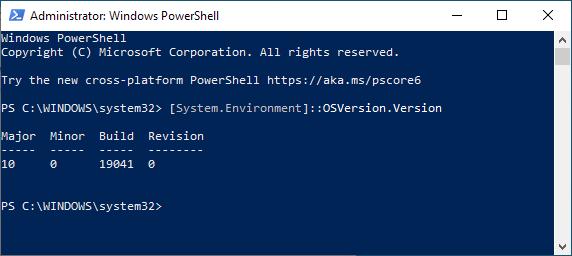 Windows Build Version